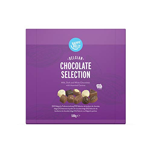 Marca Amazon - Happy Belly - Selección de bombones de chocolate belga 500g