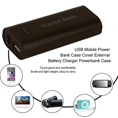 Multicolor Opcional USB Mobile Power Bank Funda Funda Nuevo portátil 5600mAh Cargador de batería Externo Powerbank Funda - café