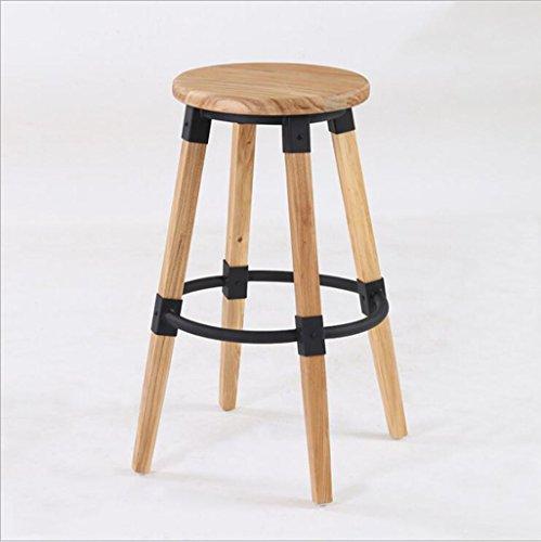 Tabouret en bois Café fer rétro tabouret de bar en bois/meubles de pays européens haut bar tabouret restaurant chaises (Couleur : A-72cm)