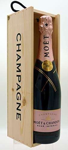 Moët & Chandon Imperial Rose Champagne 75 cl with Moët & Chandon Wooden Gift Box