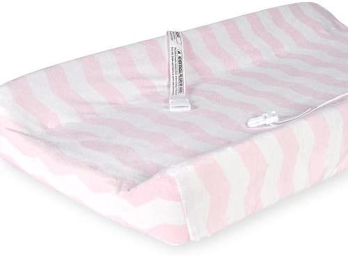 Deluxe Changing Pad Cover - Pink/White Chevron
