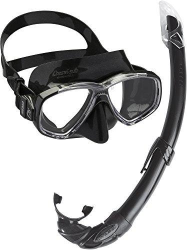 Cressi Perla Mare Conjunto Combinado de máscara de Buceo y Snorkel, Unisex Adulto, Negro, Talla única + Premium Anti Fog - Antivaho Spray para Máscara de Buceo/Gafas de Natación, 60 ml