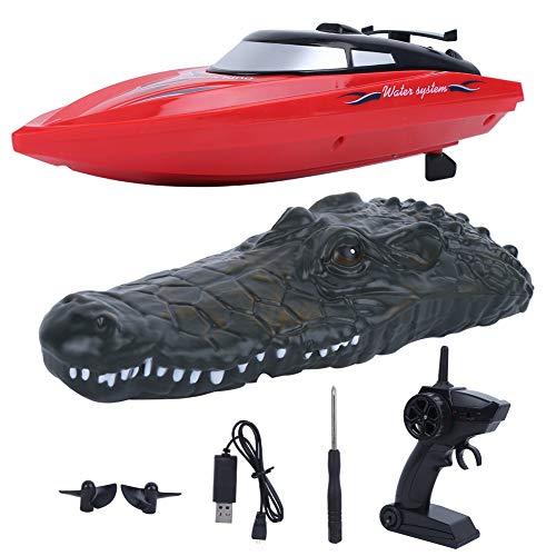 WYLZLIY-Home RC Boat Lanchas Teledirigidas Barco Radiocontrol RC Boat Control Remoto 2.4G RC Barco Simulación Eléctrica para Piscinas Y Lagos Impermeable Polvo Fuerte Niños RC Racing Boat Toy