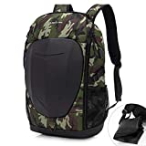 KINGSLONG Waterproof Laptop Backpack 15.6 17.3 Inch Travel College Gaming Backpack for Men Women Moto Bike Cycling Riding Computer Backpack Bag for Outdoor Sport School Work Business, Green