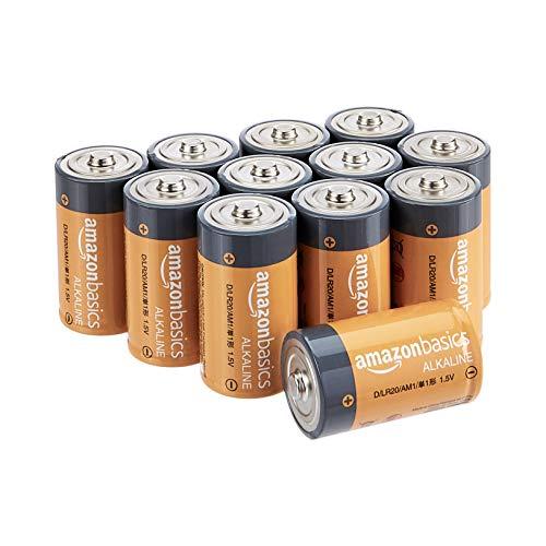 Amazon Basics Everyday Alkalibatterien, Typ D, 1,5V, 12 Stück (Aussehen kann variieren)