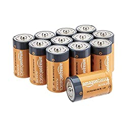 Amazon Basics 12 Pack D Cell All-Purpose Alkaline Batteries, 5-Year Shelf Life, Easy to Open Value P