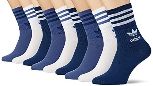 adidas Unisex Mid Cut Crw Sck Socken, crew blue/crew navy, XS EU