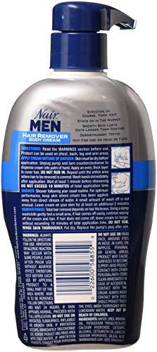 Nair Hair Remover Men Body Cream 13oz Pump (3 Pack) by Nair