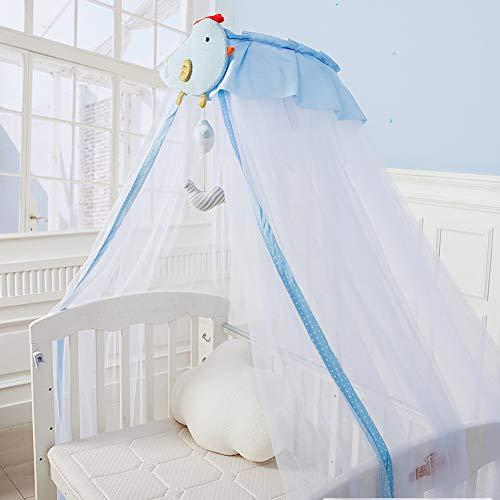 GE&YOBBY Baby Bed luifel, verstelbare muggennetje met metalen standaard houder Clip-on schattig chick muggennet-ondersteuning ringstandaard voor babybed