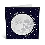 Central 23 - Cute Anniversary Card for Wife - 'I Love You' - Sweet Anniversary Card for Him - Ideal Greeting Cards for Boyfriend Girlfriend - Comes with Fun Sticker