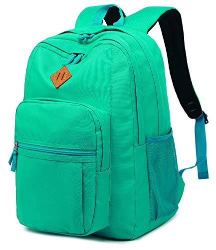 Abshoo Classical Basic Womens Travel Backpack For College Men Water Resistant Bookbag (Teal)