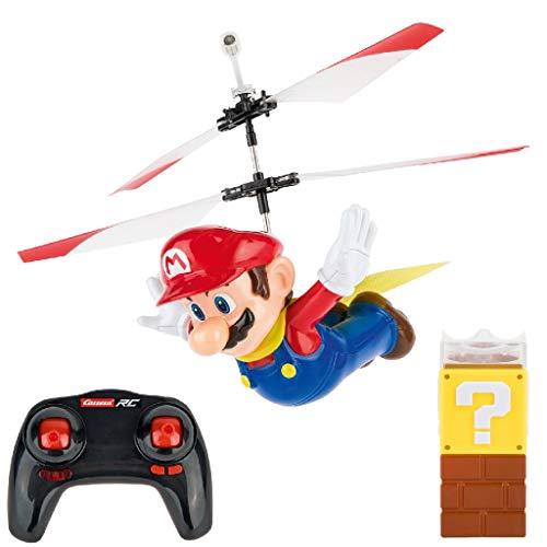 Carrera 501032 RC Super Mario - Flying Cape Mario │ Ferngesteuerter Elektro-Helikopter für drinnen & draußen │ mit Ersatz-Rotorblättern & Fernbedienung │ Spielzeug für Kinder ab 8 Jahren & Erwachsene