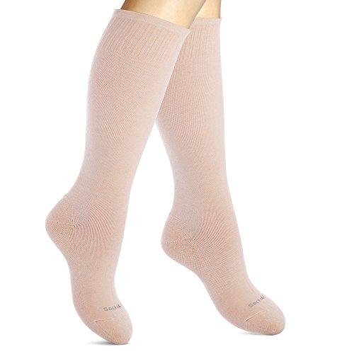 Kompressionsstrümpfe Baumwolle für Frauen. Kompressionssocken Bei Krampfadern, auf Reisen (Haut, Medium-Large)