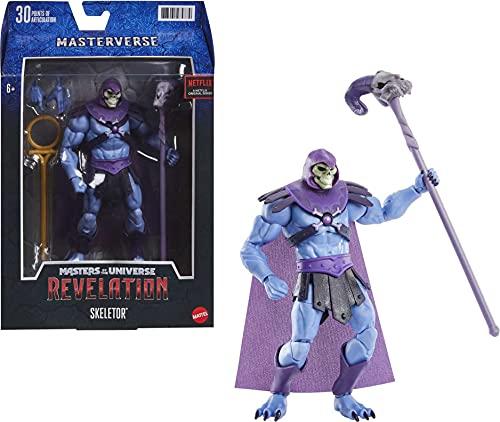 Masters of the Universe - Masterverse Revelation Personaggio Skeletor da Collezione, Giocattolo per Bambini 6+ Anni, GYV10