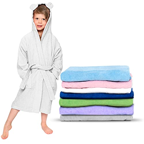 Albornoz baño con capucha niños gramaje recomendado