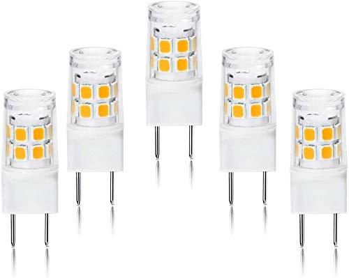 ETHT G8 LED Light Bulb 2.5 Watts Warm White 3000K - G8 Base Bi-pin Xenon JCD Type LED 120V 20W Halogen Replacement Bulb for Under Counter Kitchen Lighting.Pack of 5 (G8 Base Warm White)