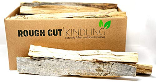 Rough Cut Naturally Fallen Sustainable Kindling  Firewood for Fire Pits Fireplaces and Wood Stoves 09 Cubic feet