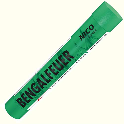Bengalfeuer grün 1 Stück Bengalfeuer Nico Bengalen Bengalo Feuerwerk