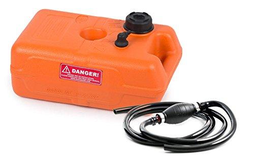 wellenshop Benzintank Bootstank 12 Liter mit Pumpball und Benzinschlauch 2,15 m