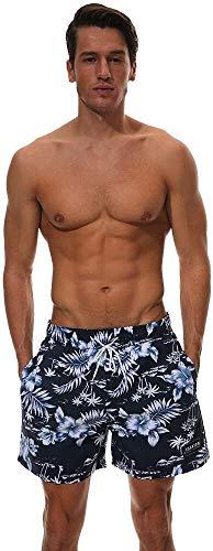 Traje de baño de moda Troncos Men's Verano Playa Pantalones cortos Secado rápido Tamaño grande Pantalones cortos Casual Impresión Alojamiento Pantalones de surf Adecuados para paneles de viajes de oci