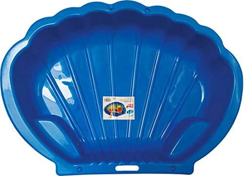 Sandbox Sandkasten Sandmuschel Muschel Wasser Planschbecken groß 108x79cm XL, 5 Farben! (1x blau)