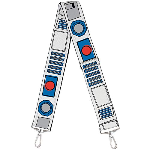 Purse Strap Star Wars R2D2 Bounding Parts White Black Blue Gray Red 2 Inches Wide