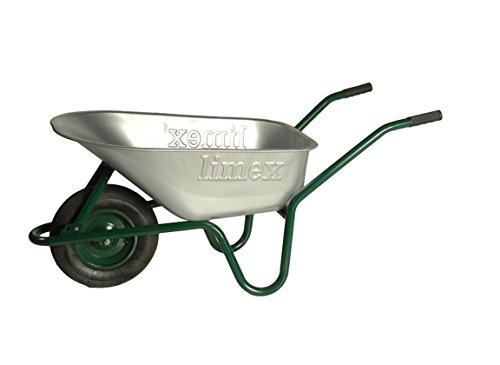 LIMEX Bauschubkarre 100l grün mit Vollgummirad - LX55000050