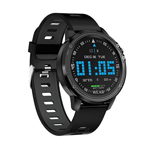 ZYY Reloj Inteligente De Los Hombres L8, IP68 Reloj Reloj Hombre Hombre Modo Multi-Sports Smartwatch con ECG PPG Presión Arterial Ratón Cardíaco Reloj De Fitness,A