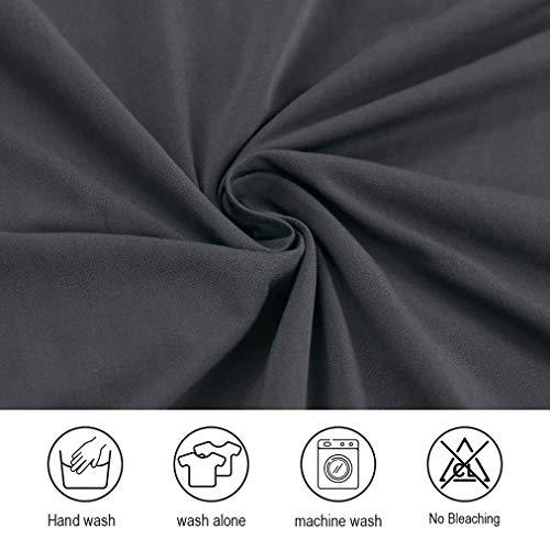 Dioxide Fundas para Sillas Pack de 4 Fundas Sillas Comedor, Fundas Elásticas Chair Covers Lavables Desmontables Cubiertas para Sillas Muy Fácil de Limpiar Duradera (Gris,4)