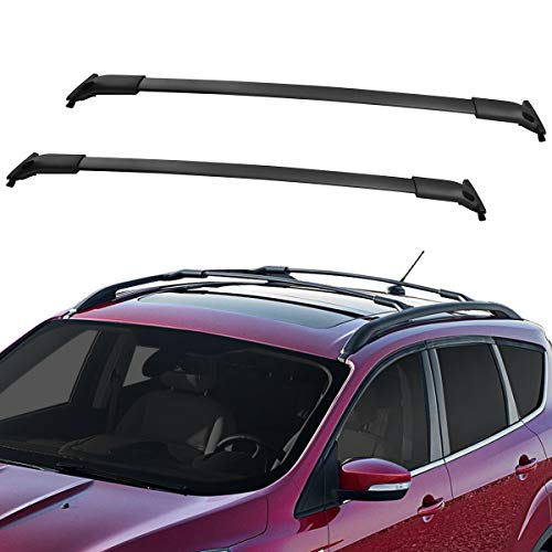 YITAMOTOR Roof Rack Cross Bars Compatible with 2013-2019 Ford Escape, Aluminum Crossbars Rooftop Luggage Cargo Bag Kayak Canoe Bike Carrier