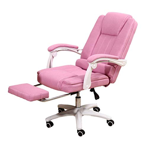 N/Z Daily Equipment Computer Chair Office Boss Chair Study Room Rotating Lift Armchair Lounge Chair in The Living Room Pink Stool Suitable Pink 65cm*65cm*120cm