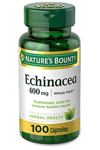 Echinacea by Nature's Bounty, 400mg Echinacea Capsules for Immune Support, 100 Capsules