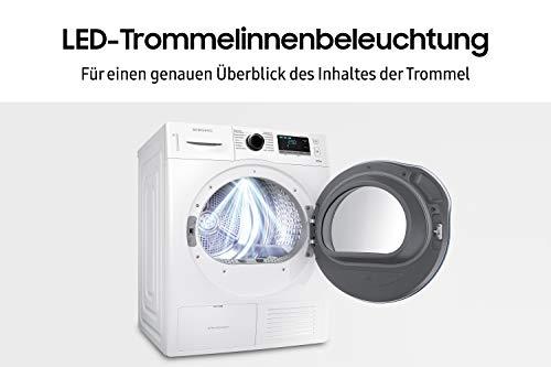 Samsung DV80K6010CW Wärmepumpentrockner / A++ / 8kg / weiß / Blitzschneller Wassertank-Check / SmartCheck