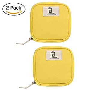 Travel Gadget Organizer,Lanticy 2Pack Universal Travel Case for Small Electronics/ Data Line and Accessories Portable Toiletry Bag Cosmetic Makeup Pouch Pocket for Jewellery Sanitary Napkin