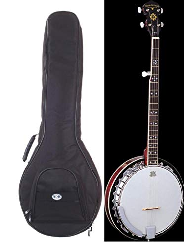 Oscar Schmidt 5-String Banjo With Heavy Duty Padded Gig Bag