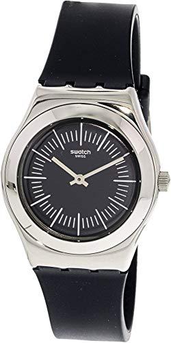 Swatch Palissade YLS202 - Reloj de cuarzo suizo de goma de plata