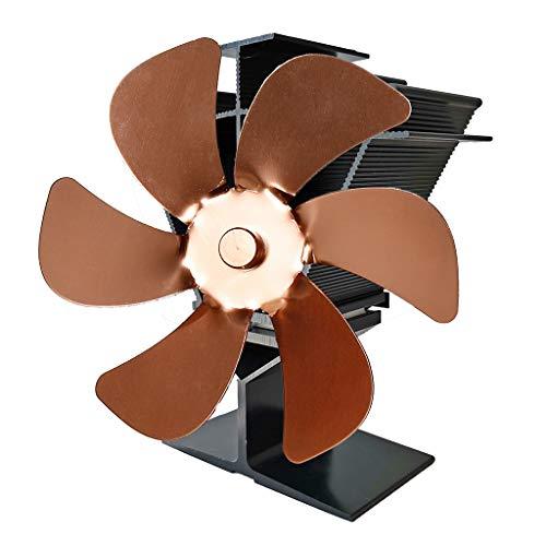 Herdventilator Ofenventilator - Heat Powered Stove Fan - 6 Flügel Wärmebetriebener Herd Ventilator Holz Holzbrenner Sicher Leiser Kamin Ecofan Kraftstoff spart effiziente Wärmeverteilung