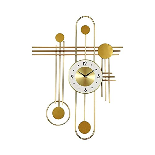 YXIAOL Reloj Pared Extra Grande 80 Cm, Reloj Pared Decorativo Creativo Metal, Salones, Hoteles, Oficina, Comedor VIIPOO,Gold