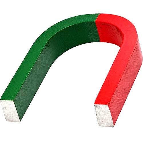 Hufeisenmagnet Schulmagnet AlNiCo rot/grün - 80 x 60 x 15mm - Haftkraft 3,2 kg - Aluminium-Nickel-Cobalt Magnete gehören zu den stärksten Magneten - ideal zum Experimentieren