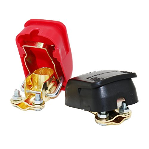 MOTOPOWER MP69011 Battery Quick Release Connectors Battery Quick Disconnect Terminals (Red & Black)