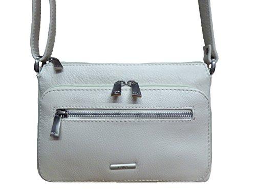 Nova Leathers Women's Veronica Compact Leather Messenger Handbag One Size Vanilla