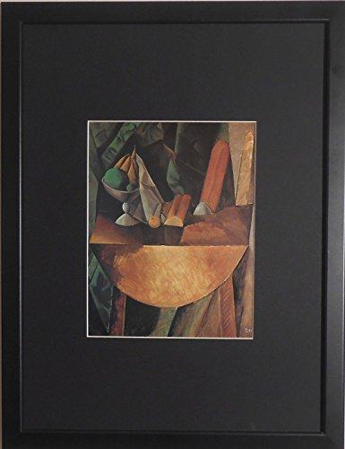 gerahmt und Brot und Obst Teller auf Schüssel Kunstdruck Pablo Picasso 30,5x 40,6cm