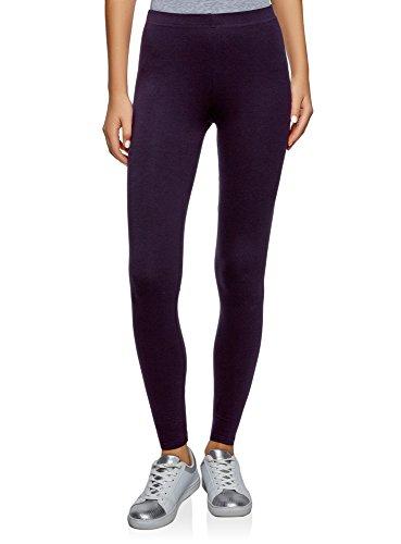 oodji Ultra Damen Leggings Basic, Violett, 44 (XL)