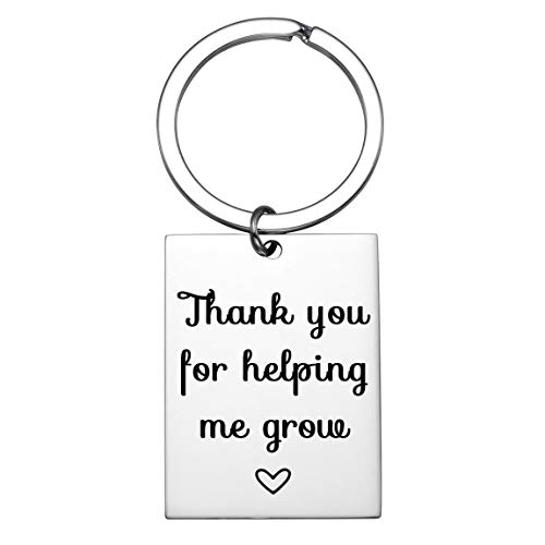 Teacher Appreciation Gifts, Thank You for Helping Me Grow, Personalized Teacher Keychain Gifts for Women Wen