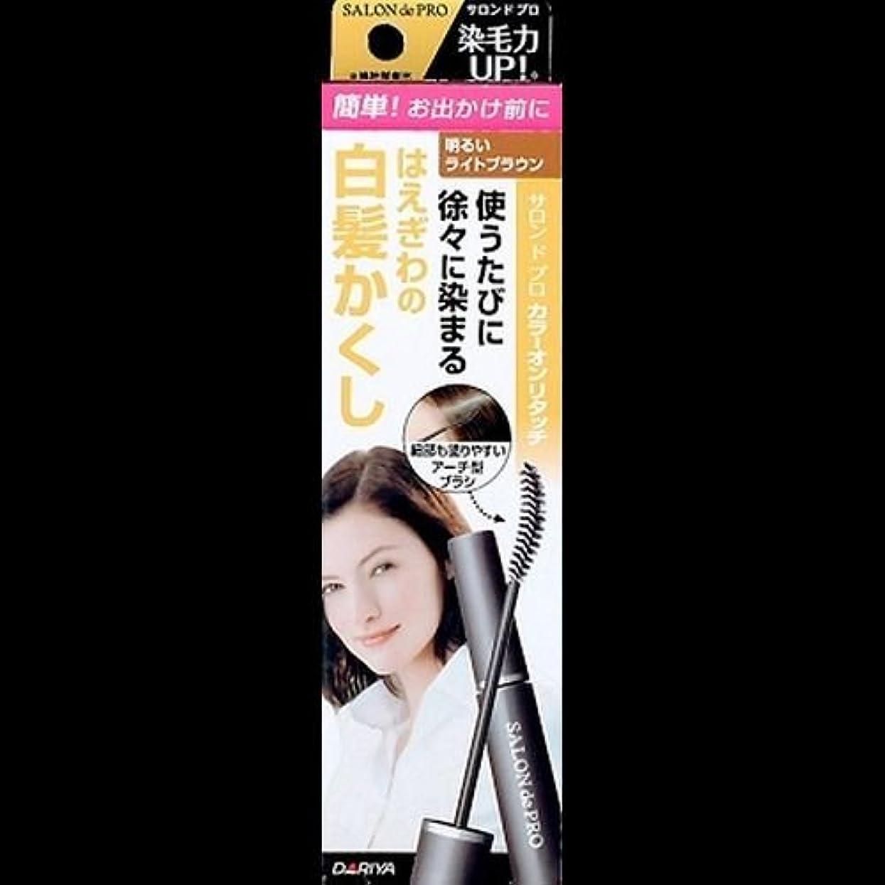 著名な画面注文【まとめ買い】サロンドプロ カラーオンリタッチ 白髪かくしEX 明るいライトブラウン 15ml ×2セット