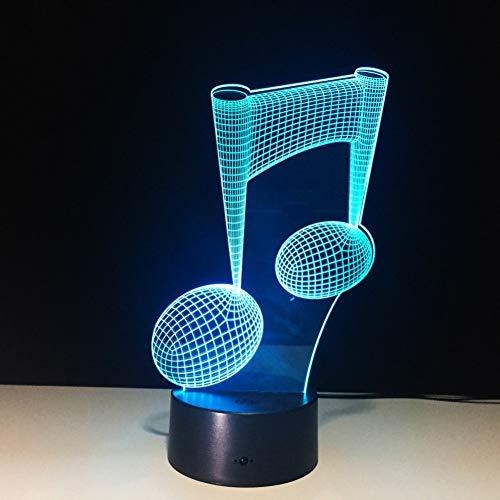 QAZEDC 3D Nachtlicht 7 farben ändern led licht usb instrument 3d leuchte musik note nachtlicht baby lampe für usb laptop wohnkultur für musikliebhaber(Kostenloser Versand)