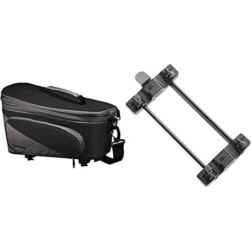 Racktime Unisex– Erwachsene Talis Plus Gepäckträgertasche, schwarz, 1size & Gepäckträger Adapter Snap-it Sytem, schwarz, One Size