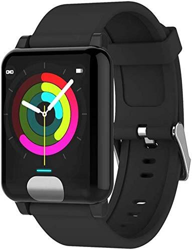 LLDKA Sport-Uhr-Armbanduhr Smart-Fitness Tracker ECG/PPG überwacht für die Herzfrequenz Blutdruck Intelligent Clock Wasserdicht für Oldman/Mann/Frau,Schwarz
