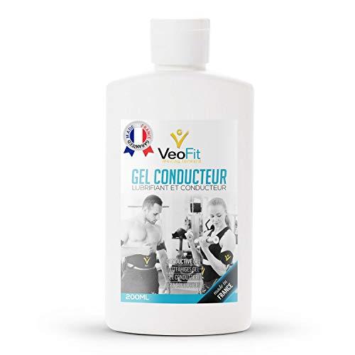 VEOFIT Kontakt Gel Conductive Leitfähiges Elektroden für EMS TENS Geräte, Elektrostimulatoren, Elektroden Pads – Verbessert den Elektrodenkontakt und schützt die Haut – Made in France