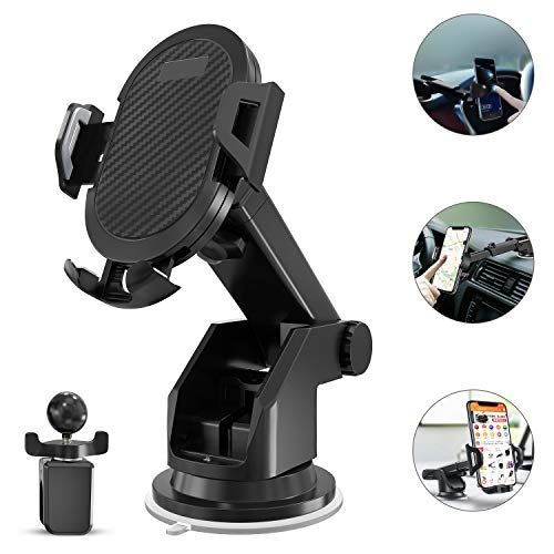 Keklle 2-in- 1 Dashboard Car Phone Mount,Car Phone Holder?Car Air Vent Mount Holder Cradle and Adjustable Windshield Holder Cradle with 360
